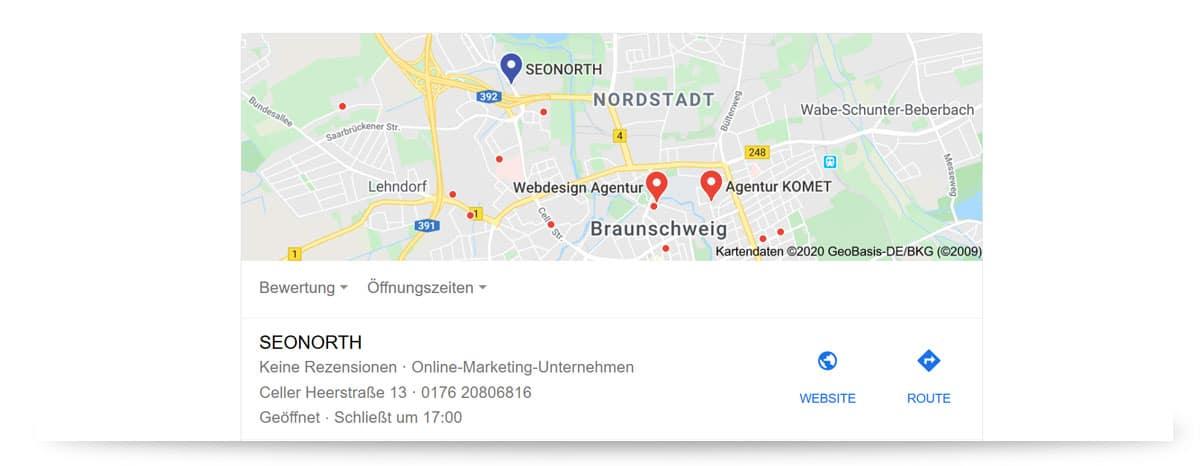 Lokal Suche Suchmaschinenoptimierung Hannover Braunschweig