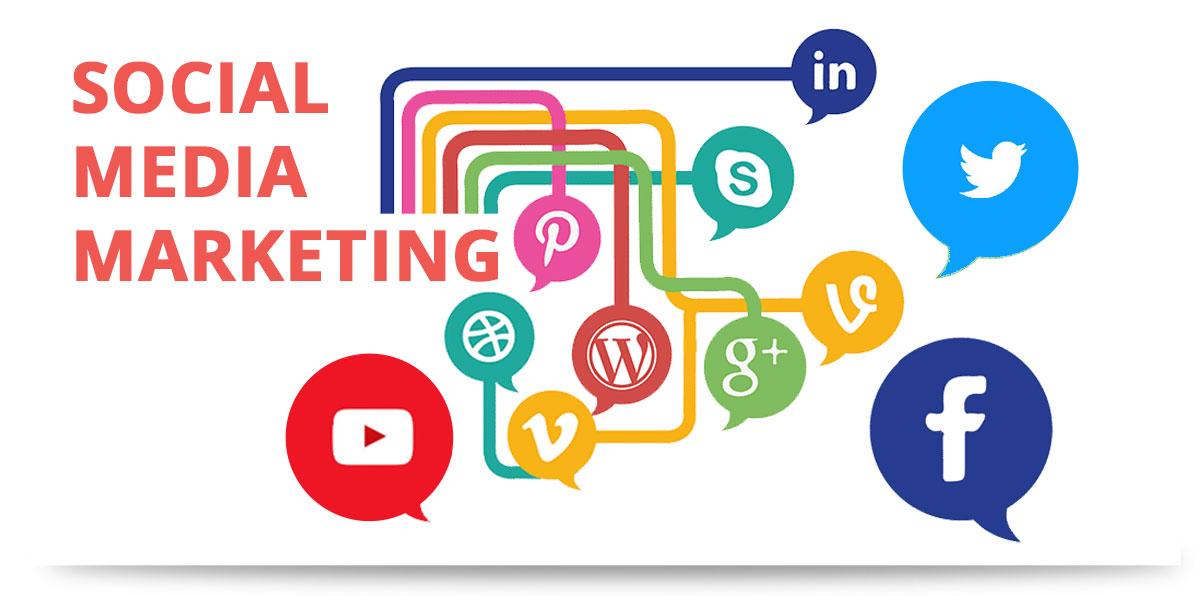 Darstellung Social Media Netzwerke